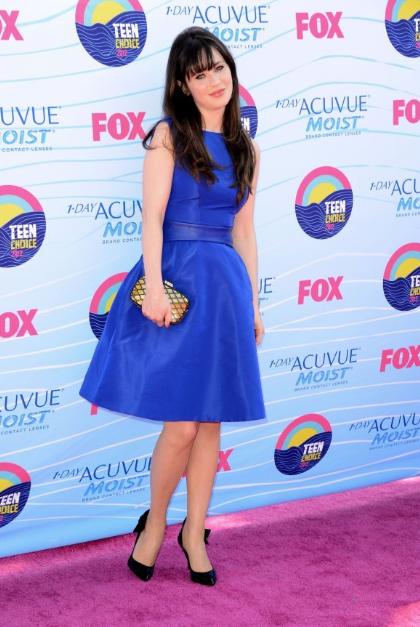 Zooey Deschanel Teen Choice Awards 2012