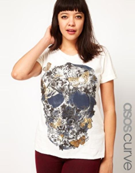 Camiseta Calavera ASOS Curve , 23,37 €AHORA 13,63 €