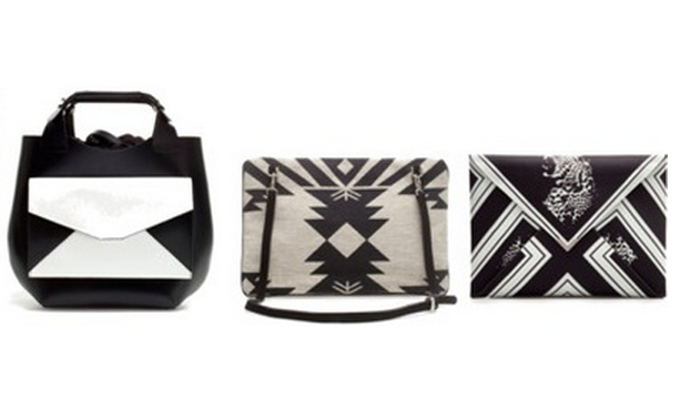 Bolsos blanco y negro Zara