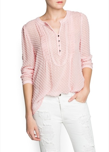 Blusa Mango rosa
