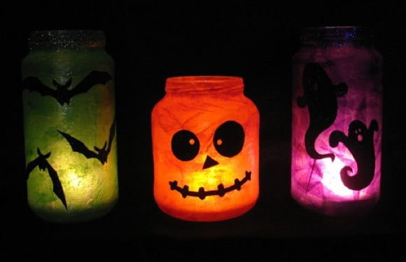 Lamparitas Halloween DIY