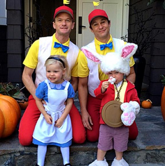 Neil Patrick Harris y su familia Halloween 2013
