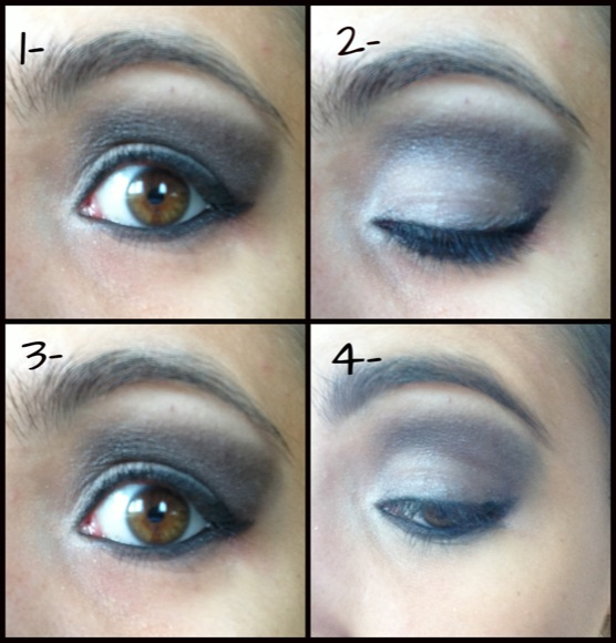 Maquillaje ojos Morticia Addams