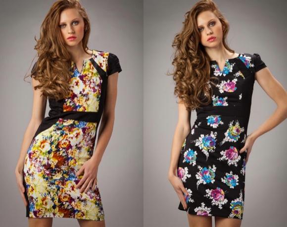 vestidos flores primavera 2014