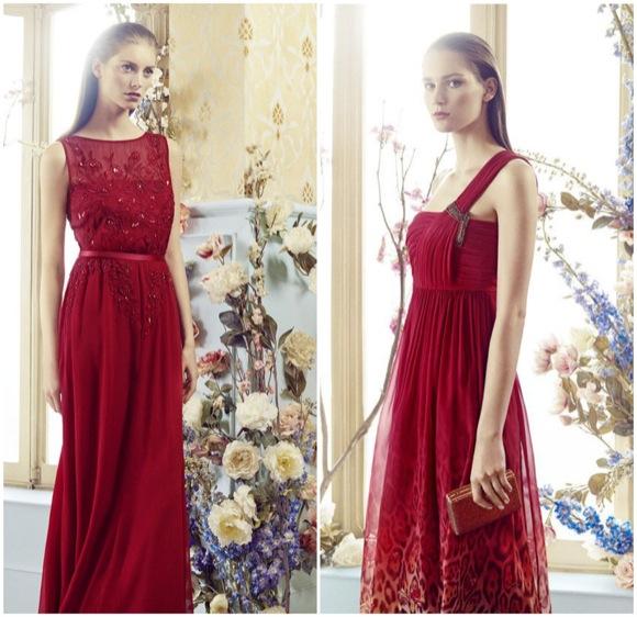 vestido invitada boda 2014 largo rojo