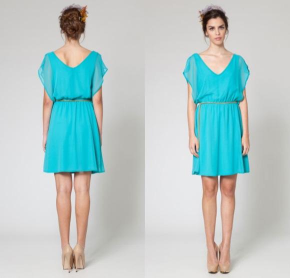 vestido corto invitada boda poete