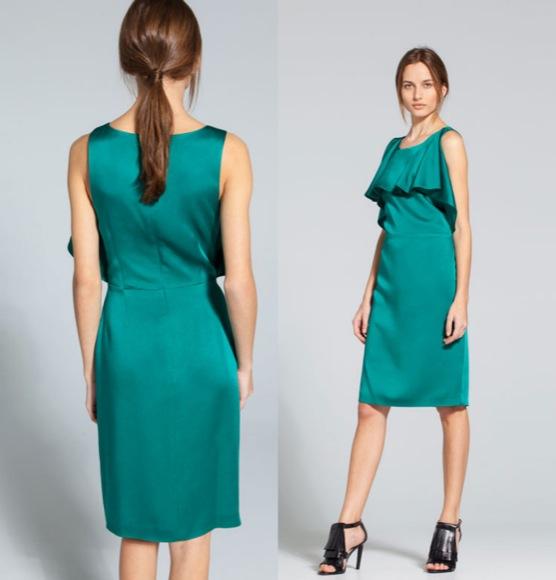 vestido invitada corto uterque