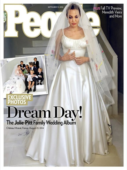 Angelina Jolie vestido novia