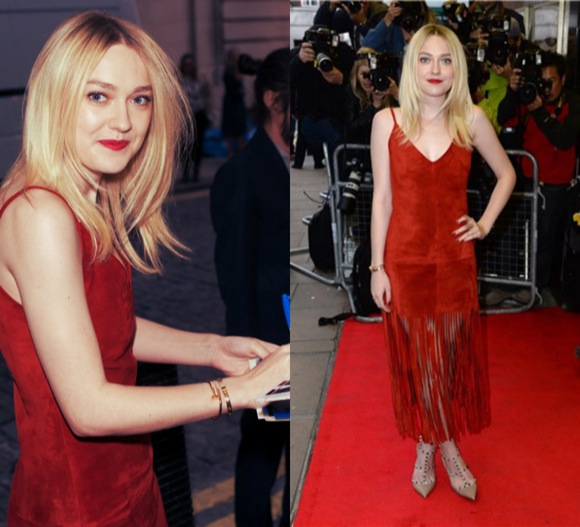 dakota fanning red valentino