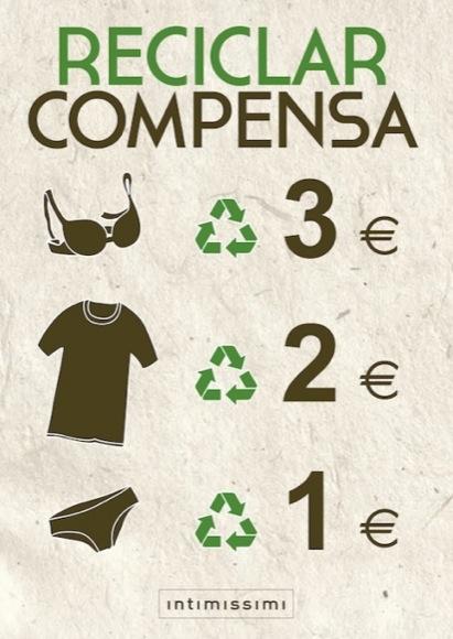 reciclaje intimissimi