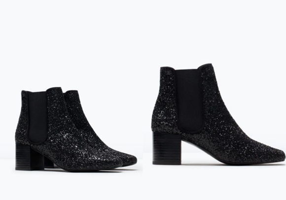 Botín Zara glitter
