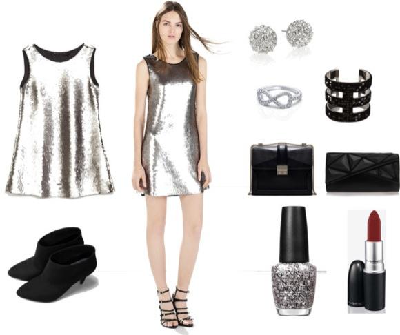 Ideas vestir nochevieja: plateado chic