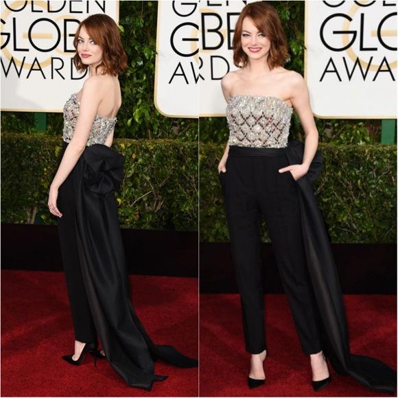 Emma Stone Globos de Oro 2015