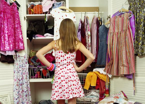 mujer armario