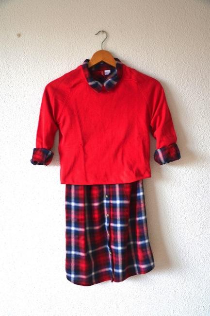 vestido camisero cuadros estilismos