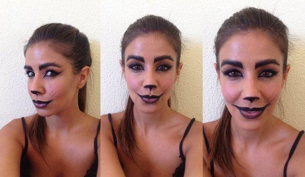 maquillaje gata halloween