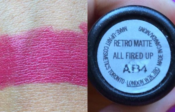 retro matte mac all fired up