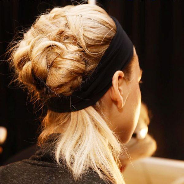 cinta negra pelo