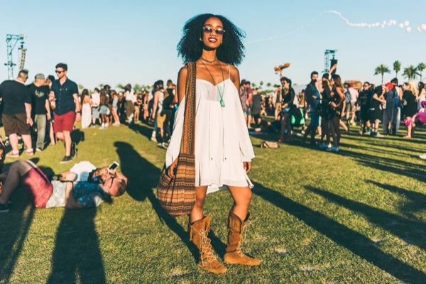 coachella street style 2016 mini dress