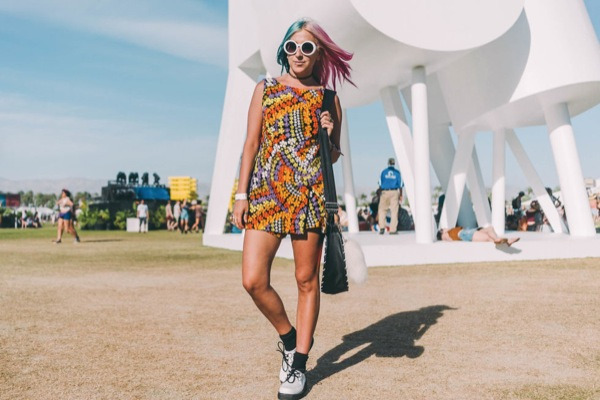 coachella street style 2016 mini dress