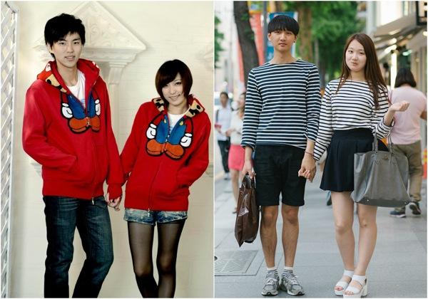 coreanos vestidos iguales