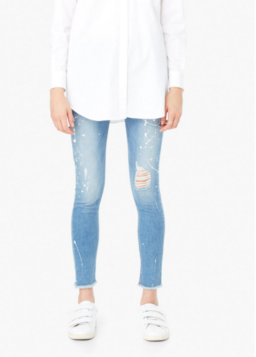 cropped jeans mango