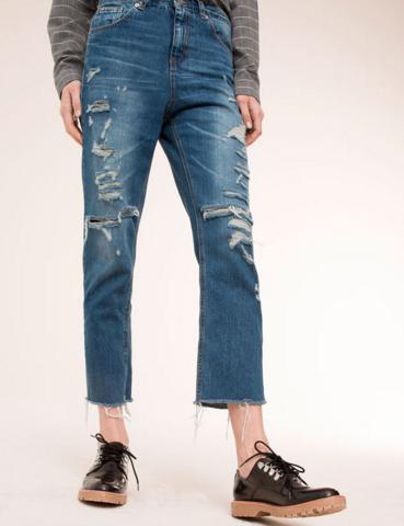 cropped jeans stradivarius