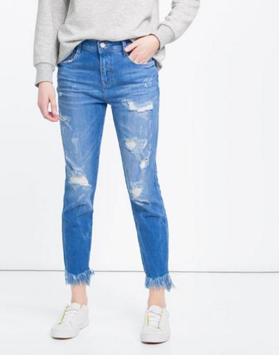 cropped jeans zara