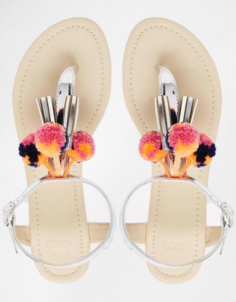sandals pompon asos