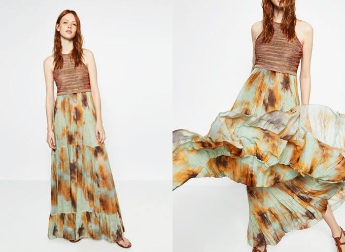 Vestido largo zara 2016