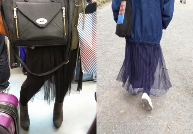 falda de tul japon