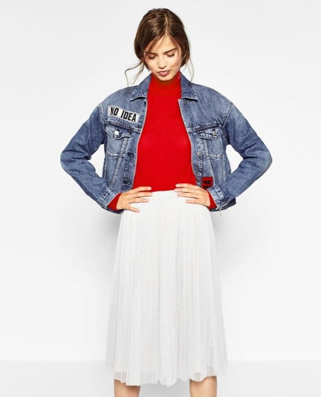 falda tul zara blanca