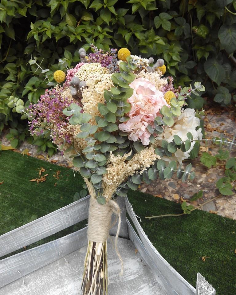 ramo novia flores preservadas
