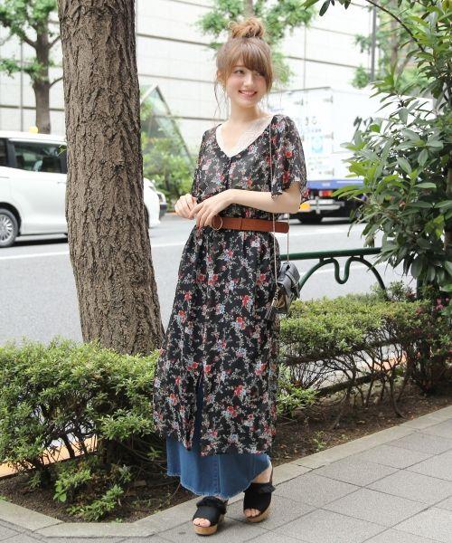 bata con flores japonesa