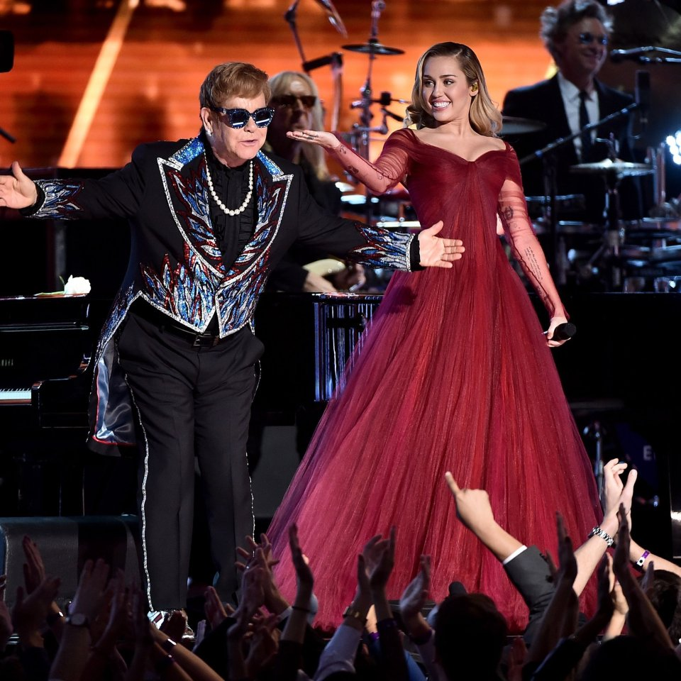 Elton John Miley Grammy