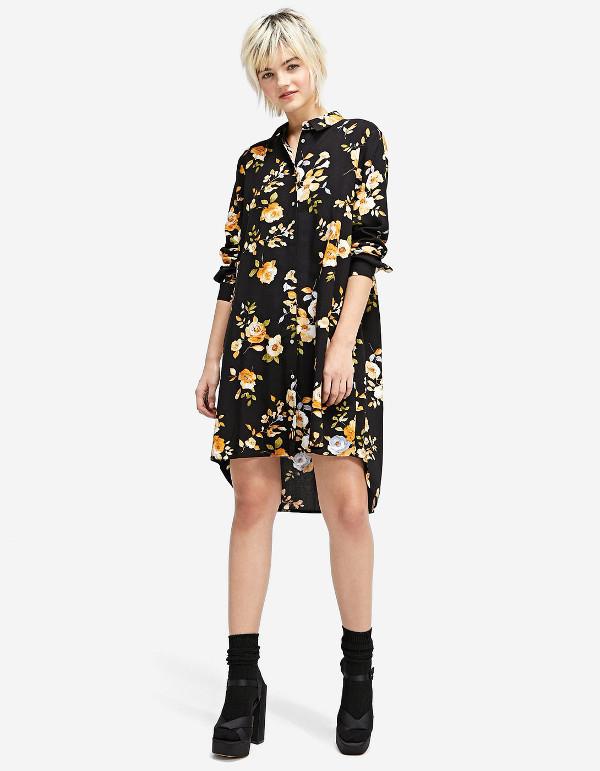 stradivarius vestido camisero