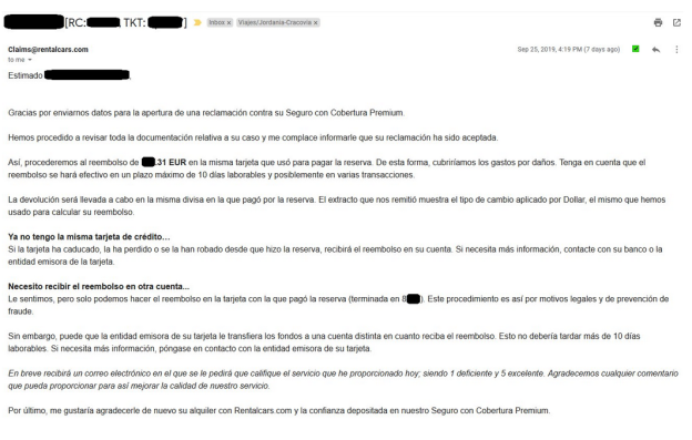 mail cobertura premium rentalcars
