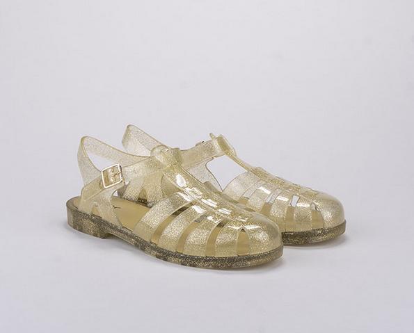 igor shoes cangrejeras doradas