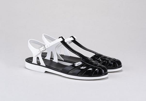 igor shoes cangrejeras negro y blanco